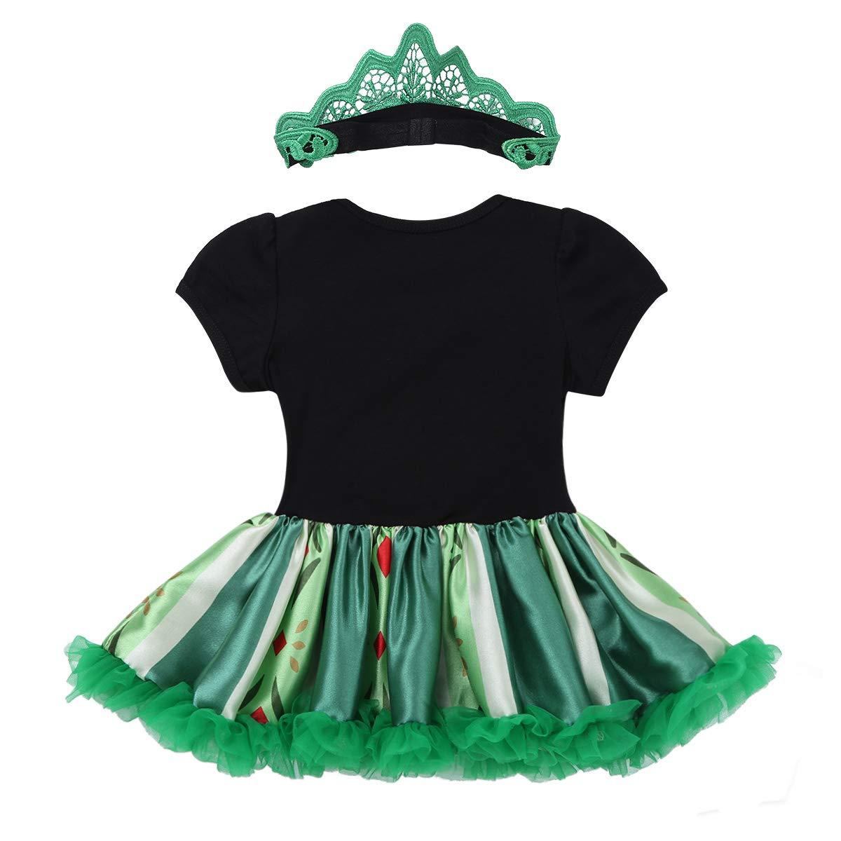 ... Tutú Verde Volante Top Algodón Traje para Halloween Ceremonia Fiesta Cosplay Disfraz Infantil Conjunto Pelele+Diadema: Amazon.es: Ropa y accesorios