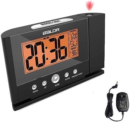 Amazon.com: Reloj despertador de proyección con constante ...