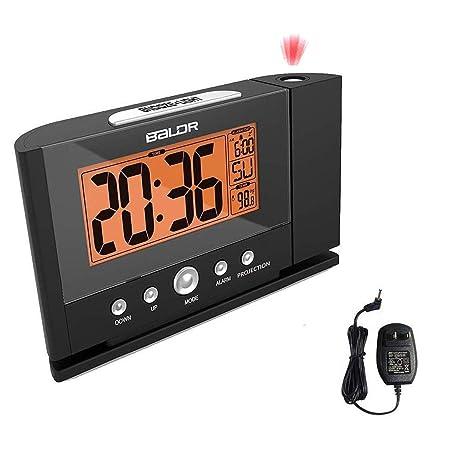 Reloj despertador de proyección, proyector de tiempo en ...