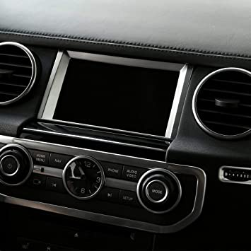 For Land Rover Discovery 4 2010-2016 Chrome Navigation Screen Decoration Trim