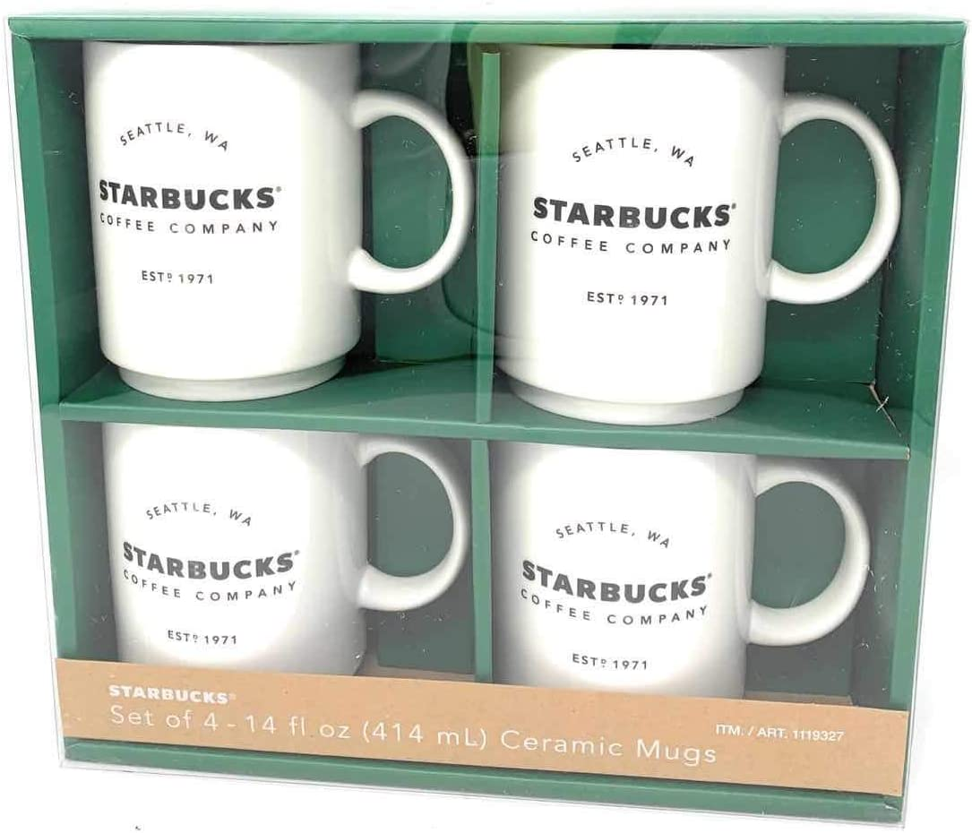 Costco Stackable Ceramic Coffee Mugs 2018 Set Of 4 Amazon De Kuche Haushalt
