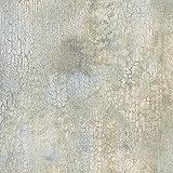 Manhattan Comfort NWKB20225 Crystal Faux Crackle Textured Wallpaper Aqua