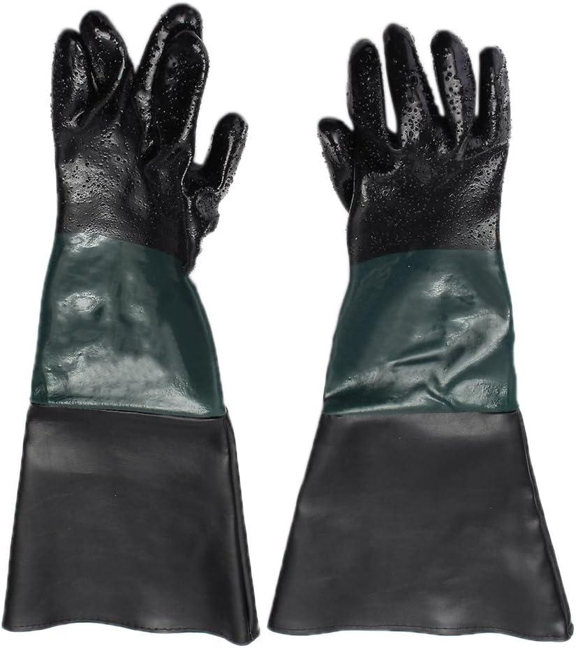 LOVIVER 60cm Lang PVC Sandstrahlhandschuhe Handschuhe f/ür Sandstrahlkabine