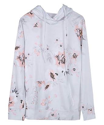 2b58238cd5 Junior Girls Hoodies Teen Girls Floral Sweatshirts Long Sleeve Fall Clothes  Tops Outwear