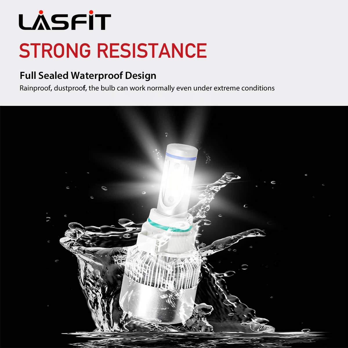 LASFIT 5202/5201/2504 LED Fog Light 60W 7600LM 6000K Cool White LED Bulbs-Plug&Play (2 pack) by LASFIT (Image #9)