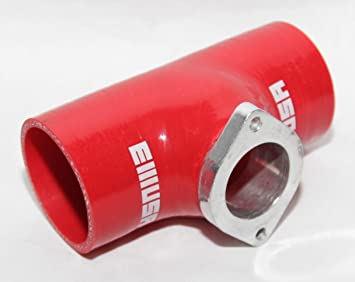 """EMUSA BLACK 3/"""" Reinforce Silicone Adapter Pipe for RS Style Turbo BOV"""