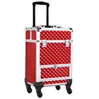 Deals on Yaheetech Cosmetic Trolley Case With Sliding Drawer