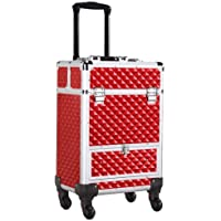Yaheetech Rolling Makeup Professional Lock Train Cosmetic Trolley Case