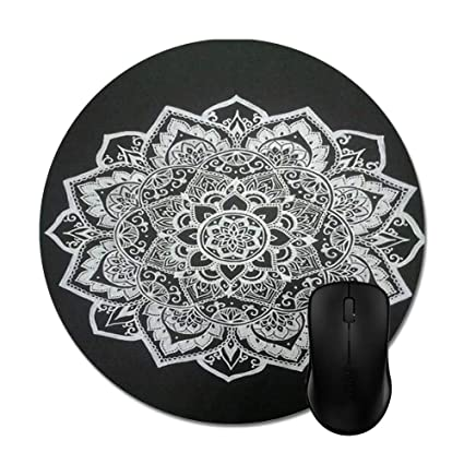 Mandala In Black Mouse Pads   Stylish Office Accessories 8u0026quot ...