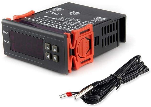 DC 12V Digital Temperature Controller Thermostat Control Fahrenheit w//Relay NTC