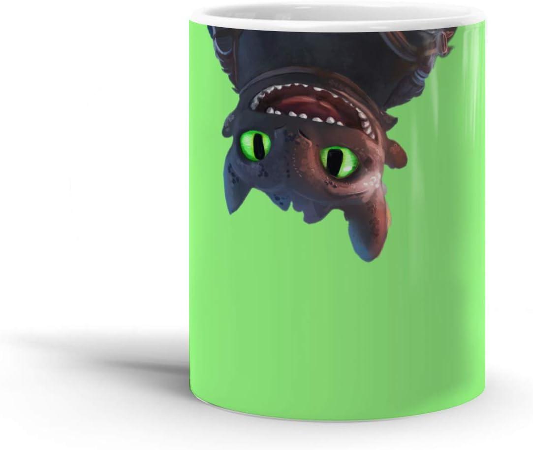Amazon Com Toothless Upside Down 11 Oz Coffee Mug Kitchen Dining