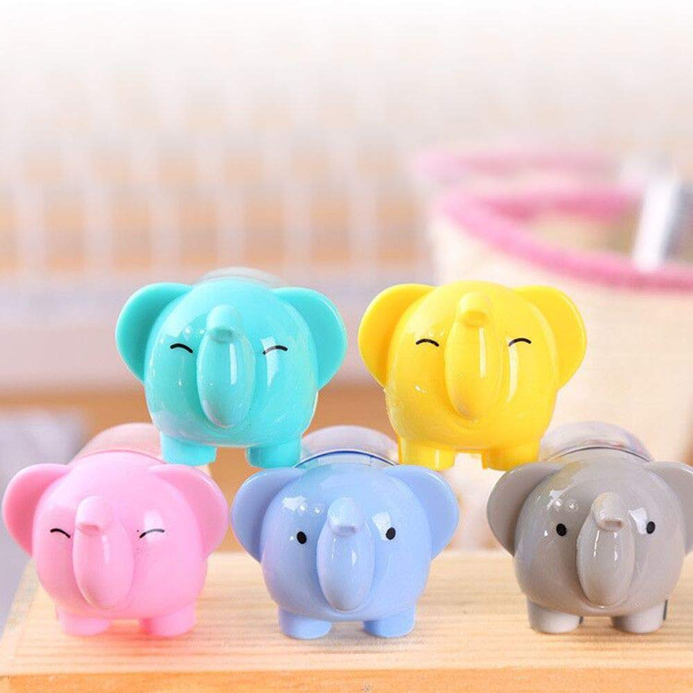 RanMory31 Manual Pencil Sharpener 2pcs Cartoon Elephant Sharpener for Pencil Kawaii Pencil Sharpener Stationery Manual Pen Cutter Tool School Office Supplies