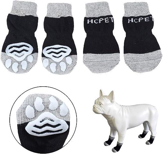 Hcpet Calcetines Antideslizantes para Perros, Protectores de Patas ...