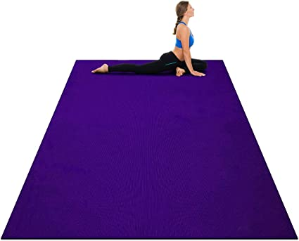 Amazon Com Goplus Large Yoga Mat 7 X 5 X 8mm And 6 X 4 X 8mm With Straps Eco Friendly Extra Thick Non Slip Barefoot Fitness Exercise Mat For Home Gym