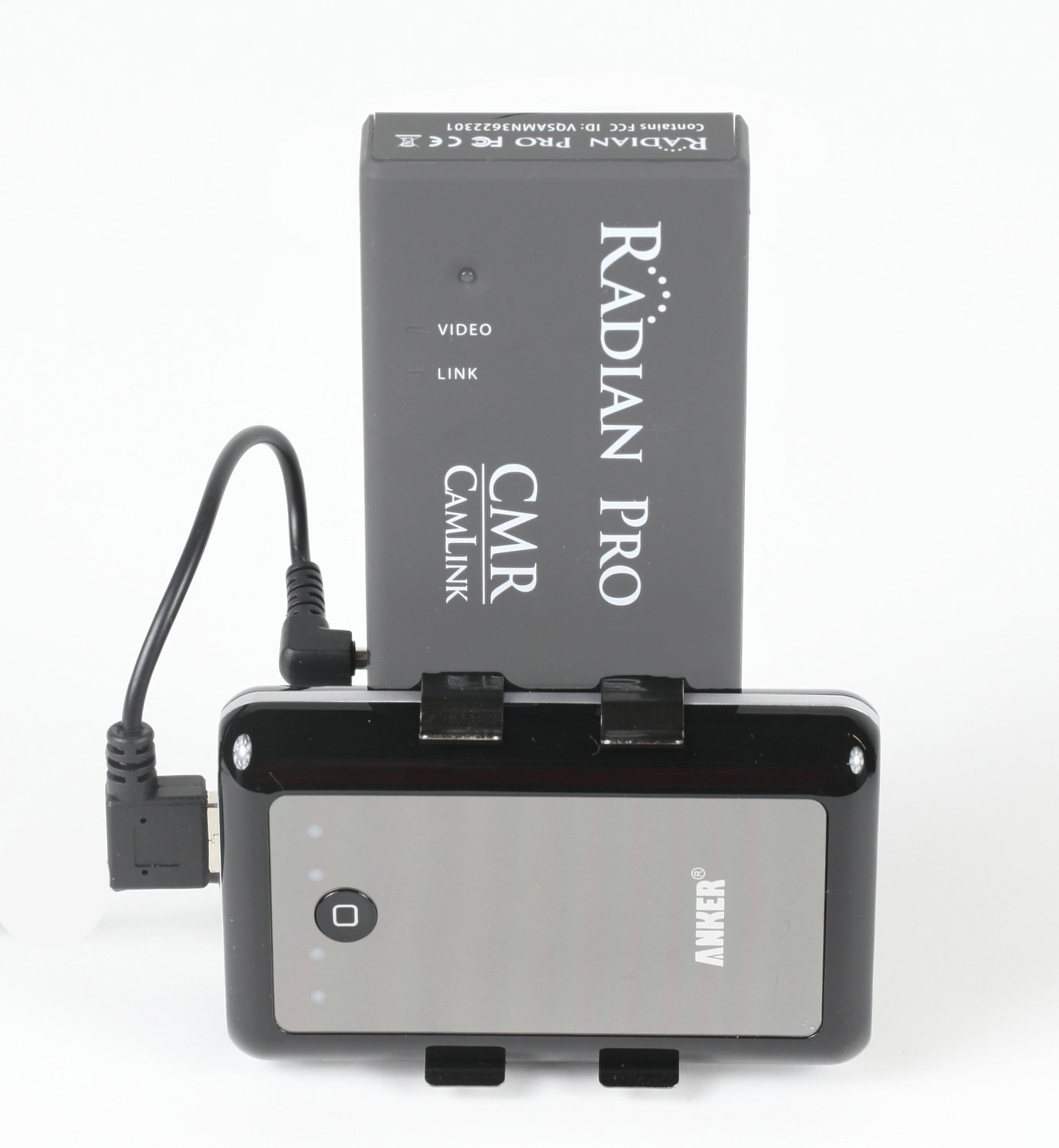 CamLink Wireless HD Receiver Monitor Mount with Battery. Supports:Radian MC, Radian Pro, Paralinx Arrow, Original Nyrius Aries Pro, IDX CW1, Came-TV SP02 Receivers