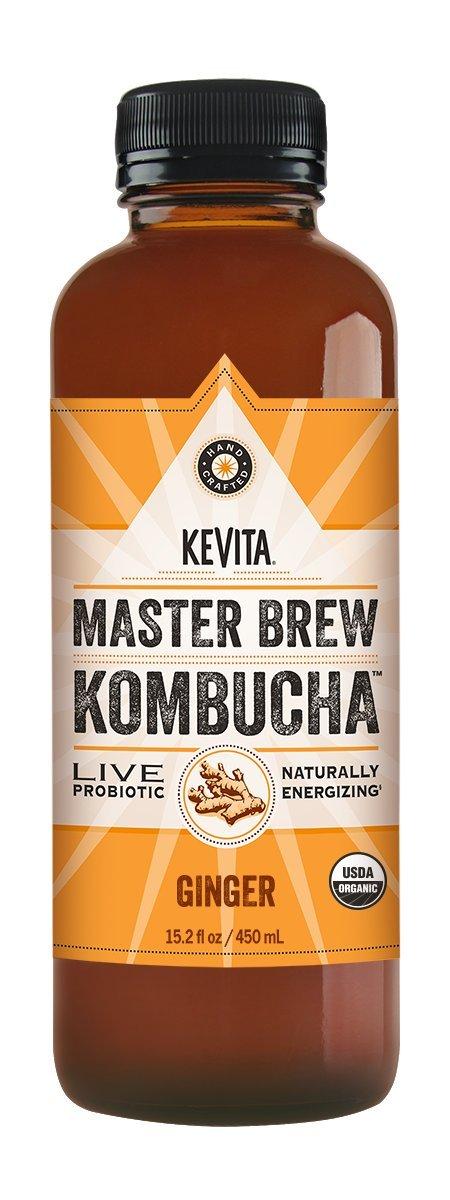 KeVita Master Brew Kombucha, Ginger, 15.2 oz