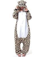 ABYED® Kigurumi Pigiama Anime Cosplay Halloween Costume Attrezzatura,Orso Leopard Taille adulte M -pour Hauteur 159-166CM