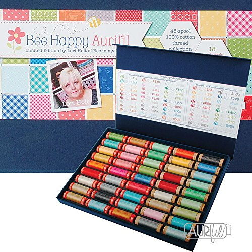 Lori Holt Bee Happy Aurifil Thread Kit 27 50wt & 18 80wt Small Spools LH5080BB45 by Aurifil