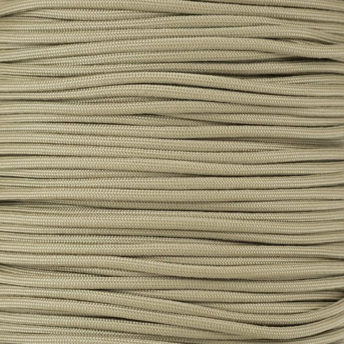 20' Three Light (Paracord Planet 550 Cord Type III 7 Strand Paracord 20 Foot Hank - Light Tan)