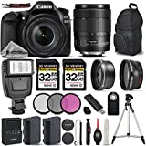 Canon EOS 80D Wi-Fi Full HD 1080P Digital SLR Camera + Canon 18-135mm IS USM Lens + .43x Wide Angle Lens + 2.2X Telephoto Lens. All Original Accessories Included - International Version