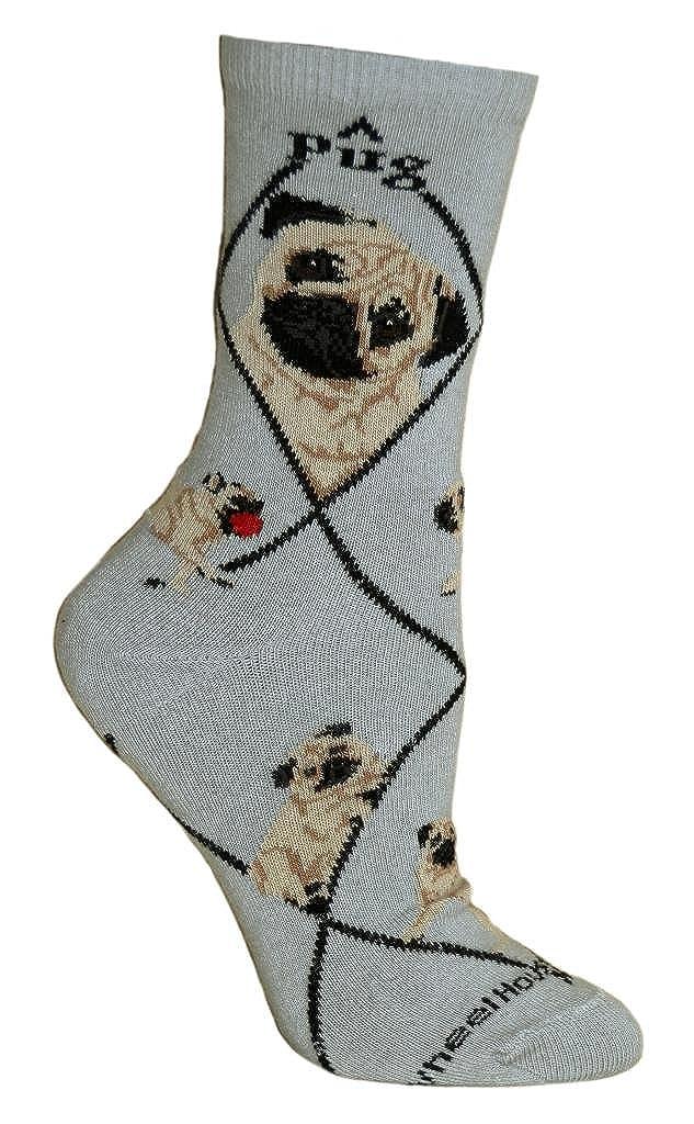 Pug Puppy Dog Breed Animal Socks 9-11 Wheel House Designs PH937