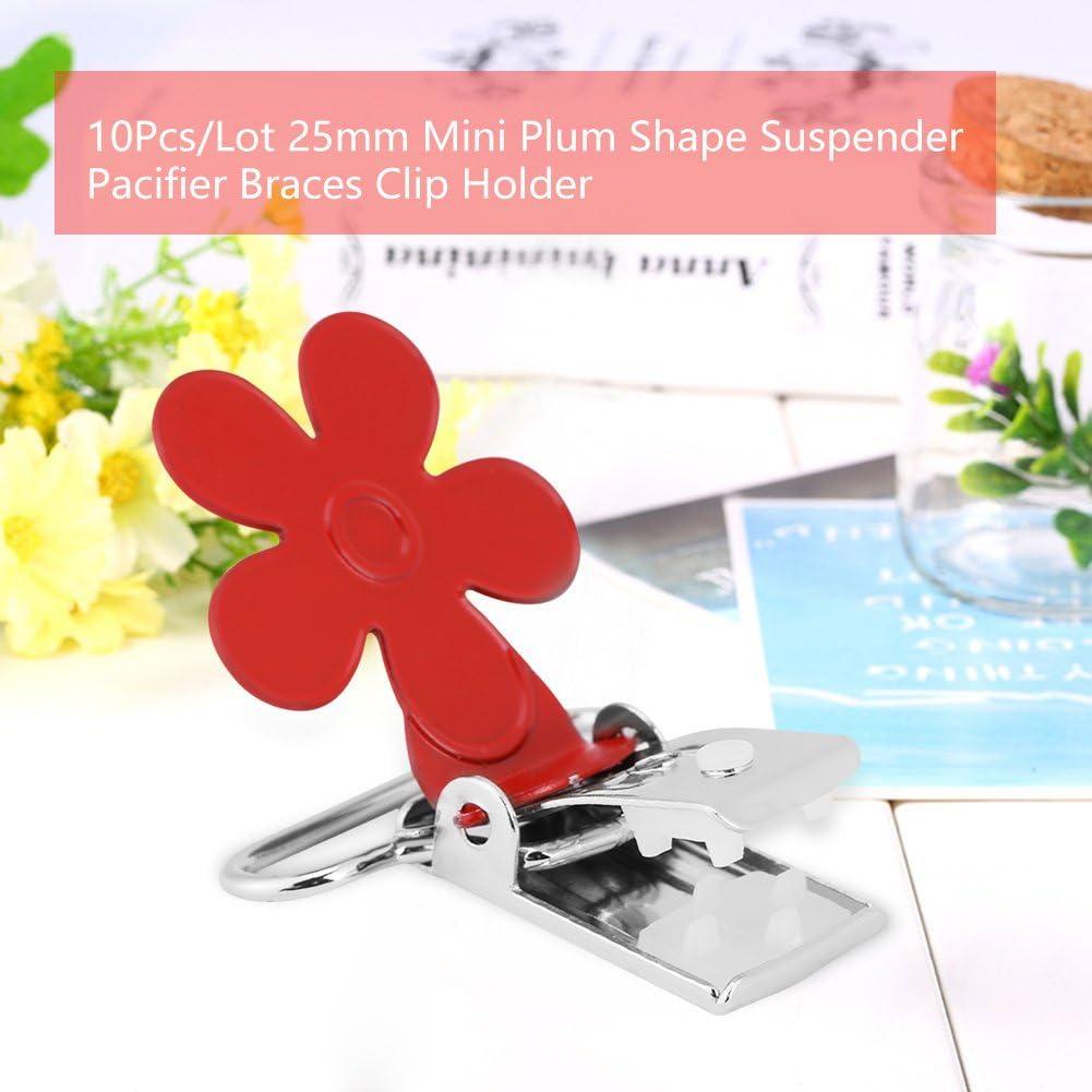 20mm Plastic Clip Camisole Feeding Bottle Clip 12 Color Suspender Clips Toy Holder Ear Strap Hook Meyerlbama 10PCS Pacifier Holders