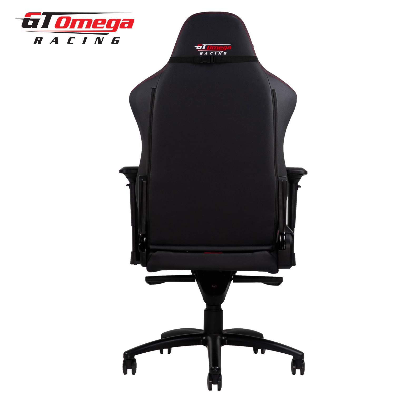 GT Omega Master XL Silla de Oficina de Cuero Negro y Rojo, con diseño Deportivo: Amazon.es: Hogar