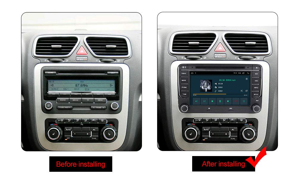 Android 9.0 OS 7 inch Touch Screen Car Radio Systems DVD for VW Volkswagen Beetle Skoda Golf 5 Golf 6 Polo Passat B7 T5 CC Jetta Tiguan Vehicle GPS ...