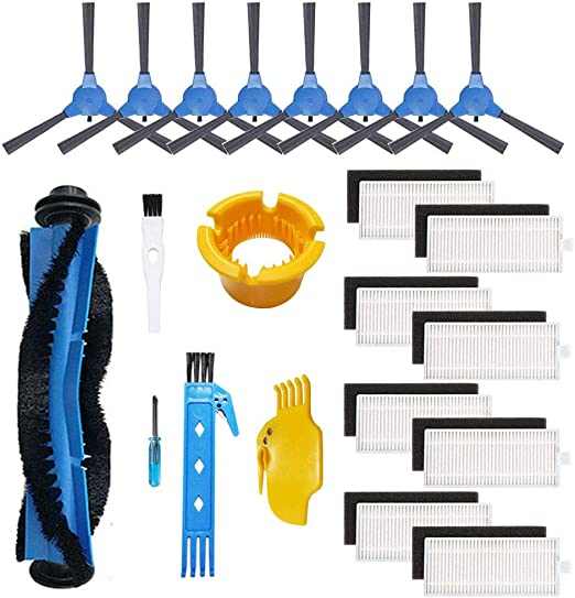 RoboVac 15C RoboVac 35C Accessory RoboVac 30C RoboVac 12 1 Rolling Brush + 6 Filters + 6 Side Brushes RoboVac 30 isinlive Replacement Kit Compatible eufy RoboVac 11S 13 Pack