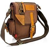 GEARONIC TM Men Military Canvas Messenger Shoulder Sling school Belt Crossbody Travel Hiking Bag Satchel