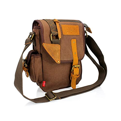 fe7d3893ebd5 GEARONIC TM Men Women Military Canvas Messenger Shoulder Sling School Belt  Crossbody Travel Hiking Bag Satchel