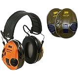 Peltor SportTac Electronic Ear Defenders/Hearing Protectors for Hunting & Shooting Green + Orange