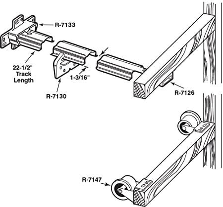 Prime Line Products R 7125 Drawer Track Repair Kit 22 12 In