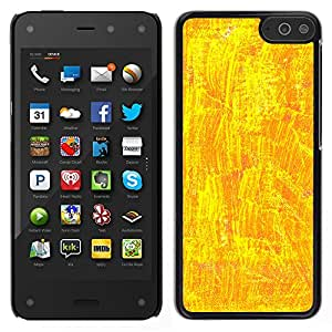 MOBMART Carcasa Funda Case Cover Armor Shell PARA Amazon Fire Phone - Shiny Yellow Design