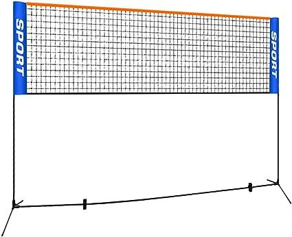 Sport Net for Badminton,Soccer Tennis,Adjustable Net for Kids Volleyball,Pickleball,Portable Badminton Net Set with Carry Bag for Beach,Backyard,Court,Pool
