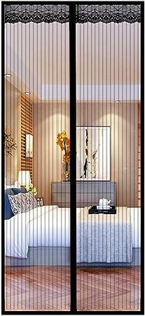 KSWD Mampara de Puerta magnética Puerta de mosquitera magnética con imanes y Marco Completo Autoadhesivo para Patio con balcón Permite la Entrada de Aire fresco-100X240cm F: Amazon.es: Hogar