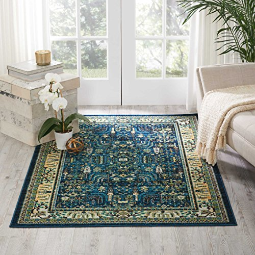 Nourison Aria (AR003) Oriental Vintage Area Rug, 3 Feet 11 Inches by 5 Feet 11 Inches (3'11