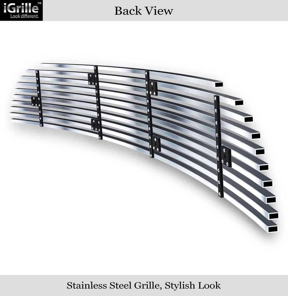 APS Compatible with 05-10 Chevy Cobalt SS Sport Bumper Stainless Steel Billet Grille Insert N19-C35756C
