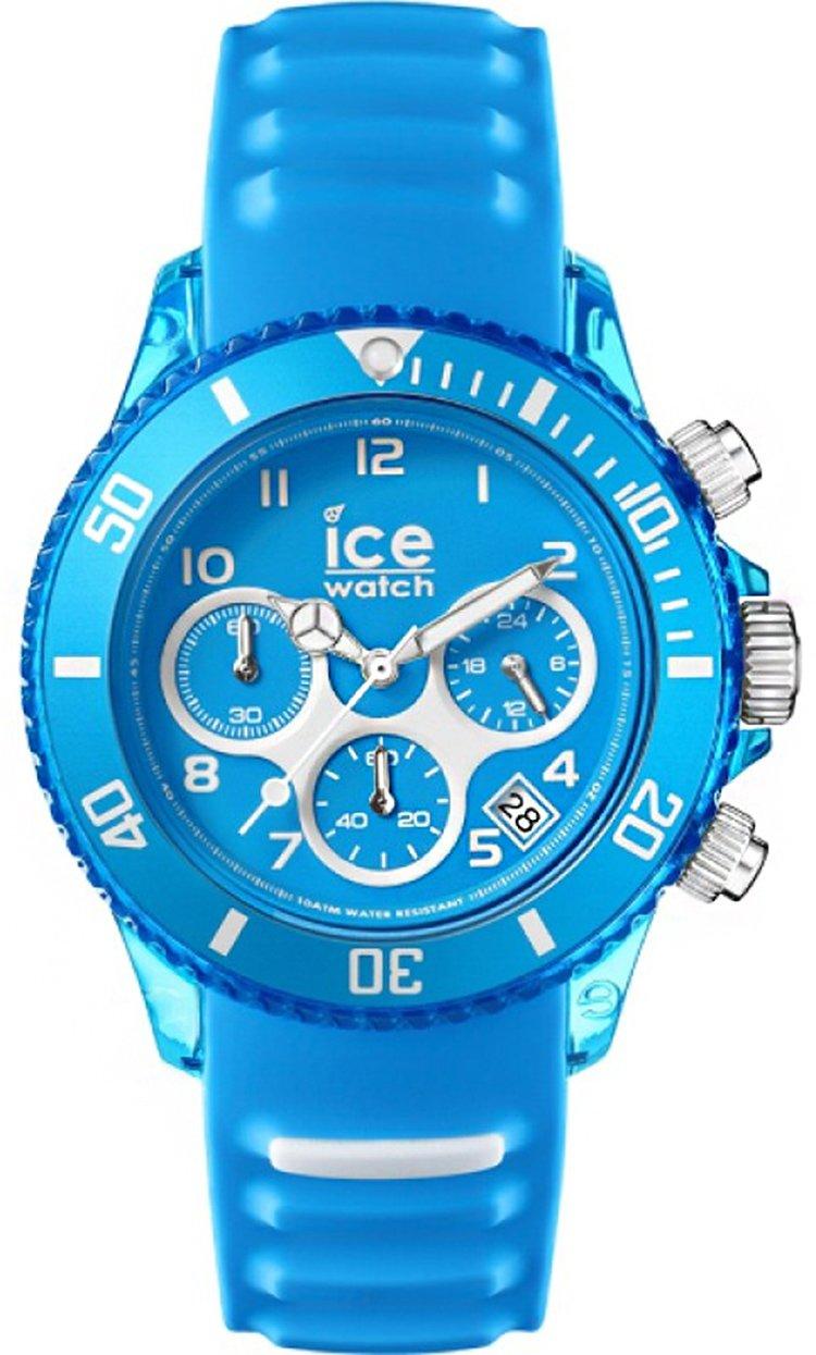 Ice-Watch AQ.CH.MAL.U.S.15 Ice-Aqua Malibu Blue Silicone Strap Chronograph Watch by Ice-Watch