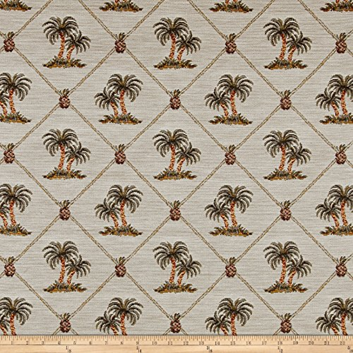 Regal Fabrics Largo Palm Tree Framed Jacquard Fabric, - Framed Art Fabric