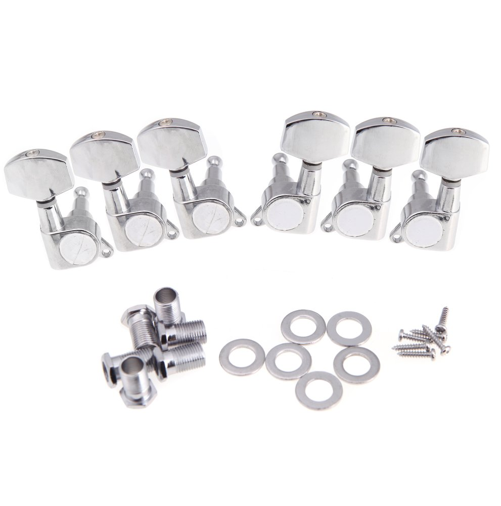 Andoer 3R 3L Chrome Electric Acoustic Guitar String Tuning Pegs Tuners Machine Heads