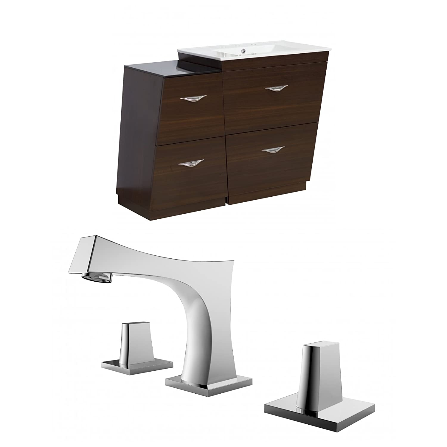 "durable modeling Jade Bath JB-9225 40.5"" W x 18.5"" D Plywood-Melamine Vanity Set with 8"" o.c. CUPC Faucet, Wenge"