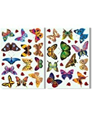 Articlings 25 Butterflies & 17 Ladybird Window Clings Colourful Non-Adhesive Stickers – Stop Birds Flying into your Glass
