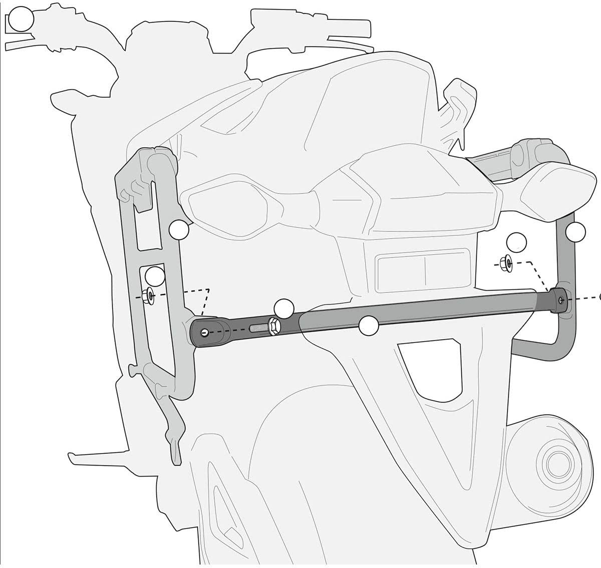 Honda NC700X Givi PL1111CAM Saddlebag Holder For Trekker Outback Cases