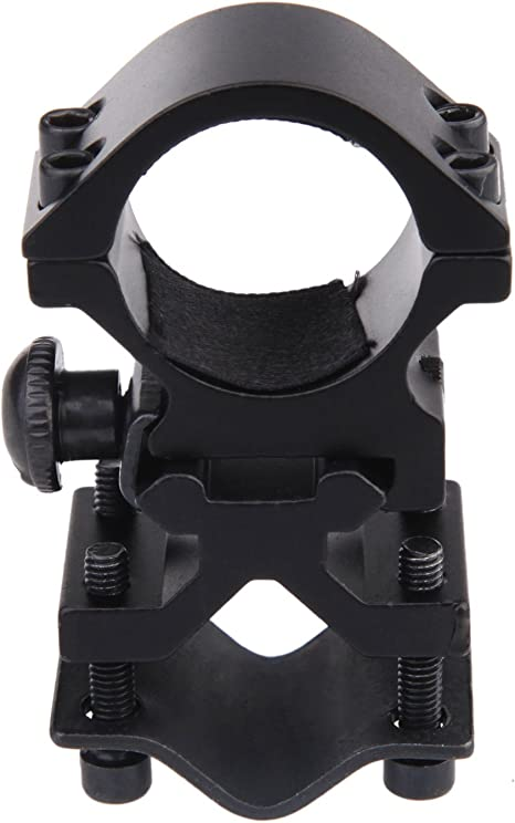 "1/"" 25.4mm Magnetic Hunting Rifle Shortgun LED Flashlight Torch Scope Ring Mount"