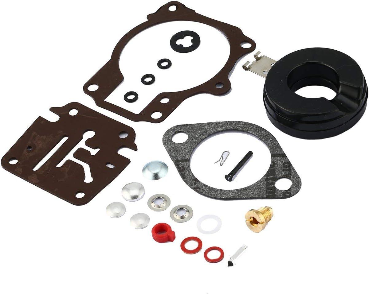 Lofenlli Kit de r/éparation de carburateur pour carburateur Johnson//Evinrude 396701 Kit de reconstruction compl/ète de carburateur 20//25//28//30//40//45//48//50//60//70