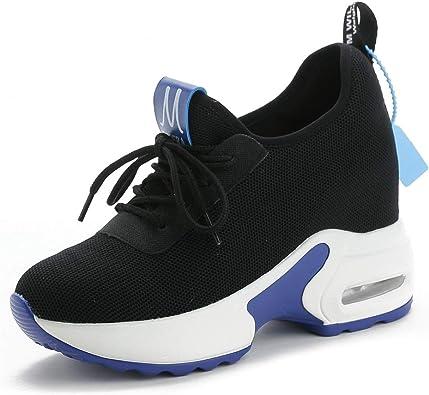 CYBLING Womens Platform Wedge Sneakers