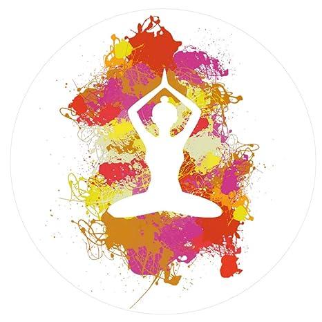 1art1® Siluetas - Yoga Posición de Loto, Manchas De Colores ...