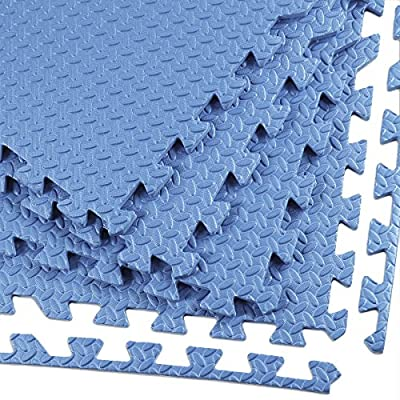"Clevr Interlocking EVA Gym Foam Floor Mat Tiles (24"" x 24"") 