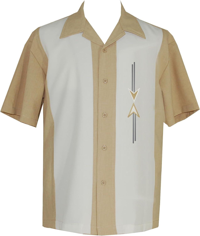 1960s Men's Clothing Lucky ParadiseMens Camp Shirt Vintage Cuban Style Bowling Shirt ~ Tom Collins ~ Guayabera Dress Shirt Style $74.95 AT vintagedancer.com